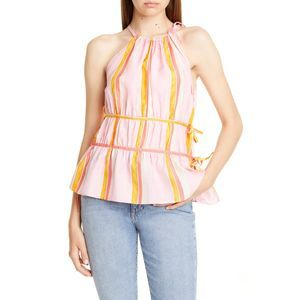 CLUB MONACO Priyah Sleeveless Silk Top Size S
